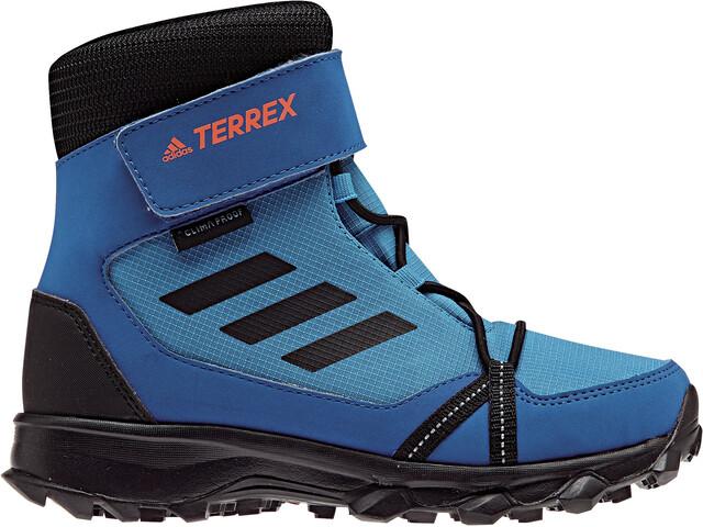 adidas TERREX Snow Botas altas Niños, bright blue/core black/hi-res orange